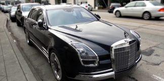 Шпионский видео-обзор уникального Mercedes-Benz S600 Royale
