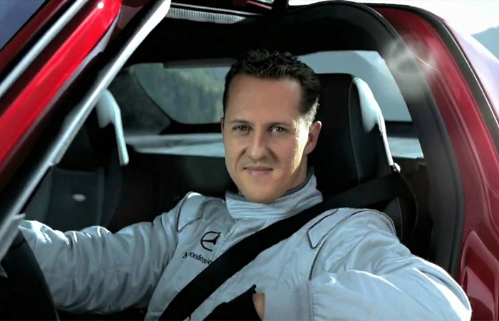 Сумасшедший трюк Шумахера на Mercedes SLS AMG
