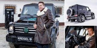 Шварценеггеру собрали специальный электромобиль на основе Гелендевагена