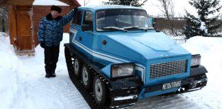 Крутой вездеход из Жигулей собрал в гараже кузбасский пенсионер