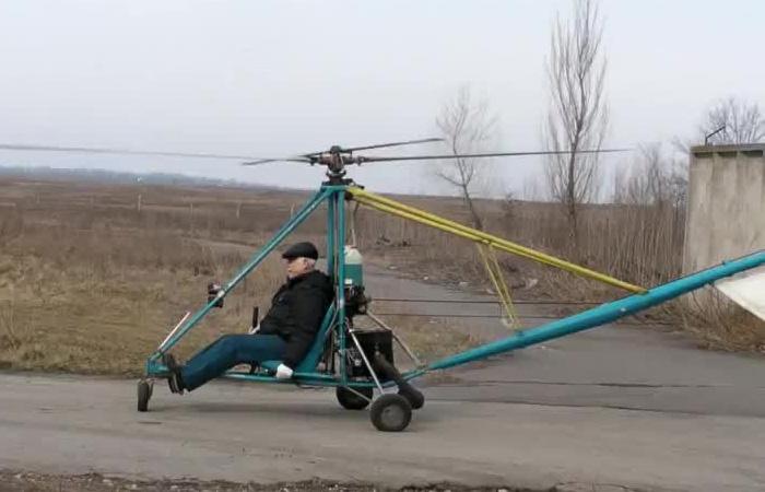 Видео первого полета: Пенсионер собрал и запустил личный вертолет