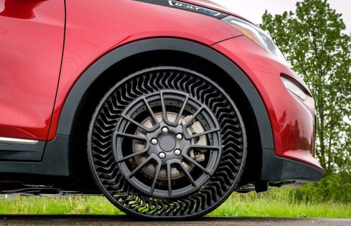 Безвоздушные шины автомобиля